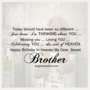 brother free birthday cards for brother in heaven to share on facebook ...