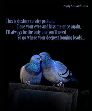 Destiny Love Quotes. QuotesGram