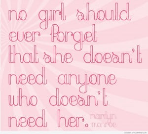Girly Quotes, Sayings for girls