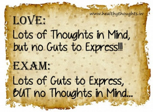 Humor-Funny-Thoughts-Quotes_Love and Exam