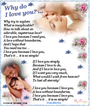 Why Do I Love You ~ Being In Love Quote