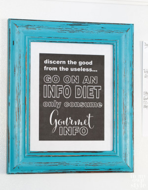 The opening of my frame was 8″ x 10″. Since the quotes and ...