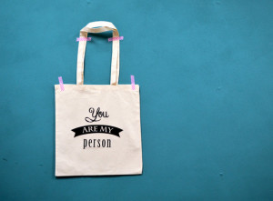 You are my person tote - Grey's Anatomy quote bag - canvas shopping ...