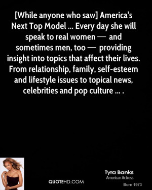 Tyra Banks Life Quotes