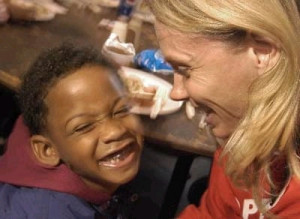 When we work to end childhood hunger, we are giving our love to kids ...