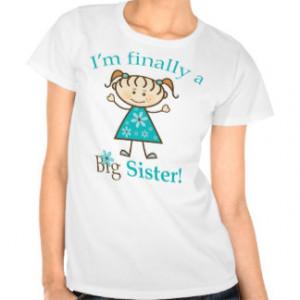 Finally a Big Sister Stick Figure Girl Tees