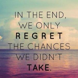 Motivation Picture Quote bout Regret