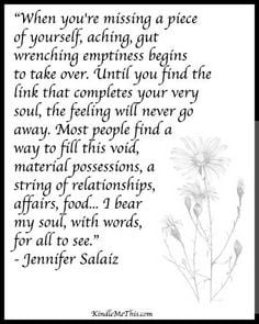 "... bear my soul, with words, for all to see."" - Jennifer Salaiz"