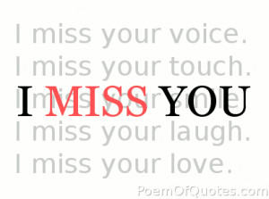 Miss You Quotations