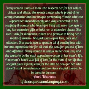 Woman's Heart Is Full Of Love..