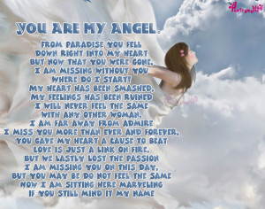 Love Romantic Poem You are my Angel Girl