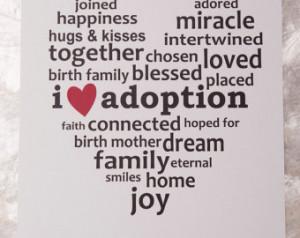 Adoption Art Print 8x10