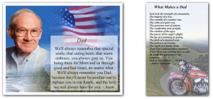 Funeral Poems Dad Father Grandpa