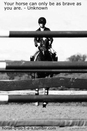 Your horse can only be as brave as you are. - Unknown*I OWN EVERYTHING ...