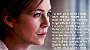 Make no apologies for how I chose to repair what you broke #Grey's ...