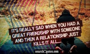 Sad Ending Friendship Quotes Sad Friendship Quotes Love Quotes Poems ...