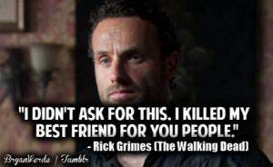 rick quotes walking dead