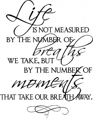 Wall Quote Life Measured