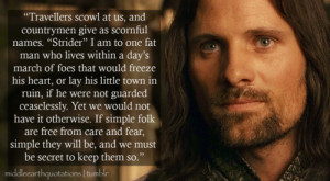 aragorn quotes fellowship of the ring