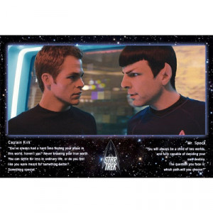 Title: Star Trek Movie Kirk and Spock Quotes Poster Print