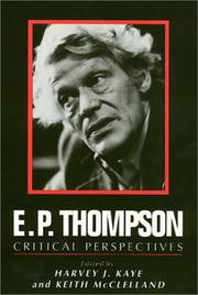 Cover of E P Thompson by Harvey J Kaye