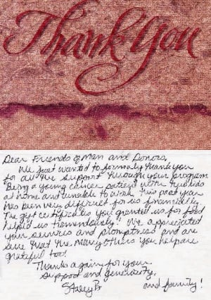 Dear Friends of Man and Donors, We just wanted to formally thank you ...