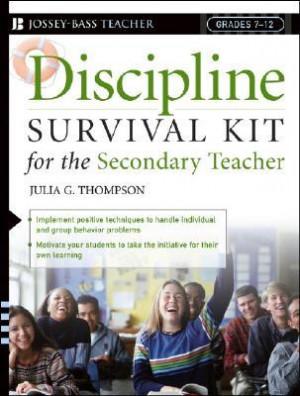 """Start by marking """"Discipline Survival Kit for the Secondary Teacher ..."""