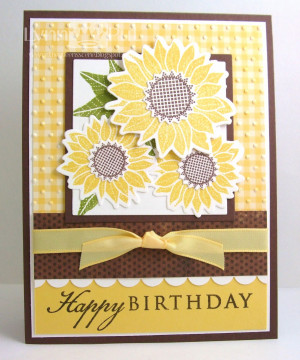 ... Sunflower , this was a card that I had created as a set to coordinate