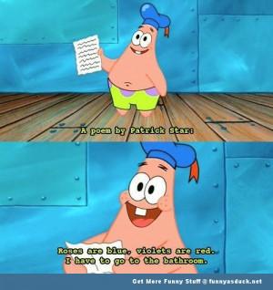 patrick spongebob Nickelodeon poem scene tv funny pics pictures pic ...