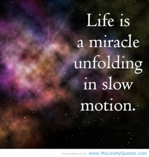 Life is a miracle – spring quotes for children
