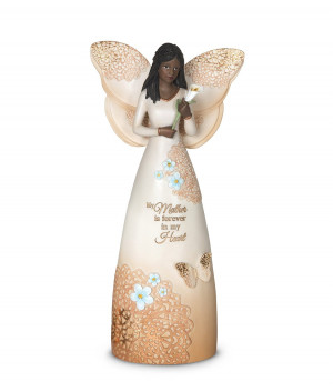 African American Mother Angel Figurine with Lilly: Light Your Way ...