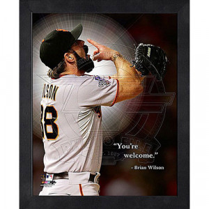 MLB - Brian Wilson San Francisco Giants 12x15 Framed ProQuote