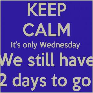 Keep Calm its Wednesday