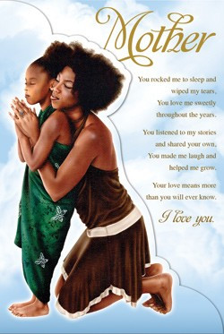 Mother and Daughter - African American Mother's Day Card