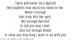 You Mean So Much To Me Quotes Tumblr You mean so mu.