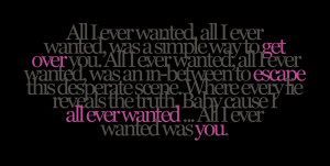 All I Ever Wanted - Kelly ClarksonRequest for kristalinda