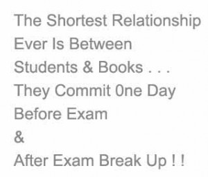 Funny exam quote about books
