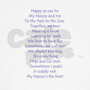 nanny poem - I love you best.... forever in our hearts. xoxoxo