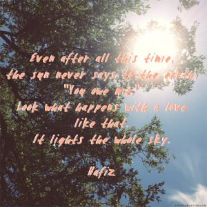 Inspiring Words: Hafiz
