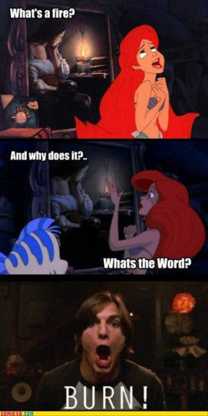 the little mermaid funny burn picture