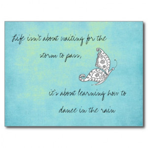 life_isnt_about_waiting_quote_postcard ...