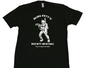 Boba Fett Bounty Hunting mens T-SHI RT funny vintage star wars bounty ...
