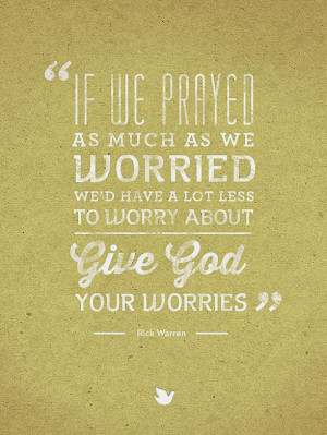 Give God your worries