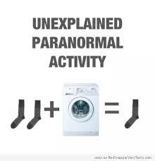 Where do those lots socks go...unexplained paranormal activity? More