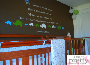 Twin Boy Nursery Decor – Custom Wall Quote