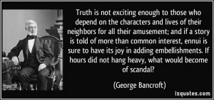 More George Bancroft Quotes