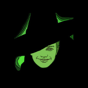 Glee Kurt as Elphaba from Wicked