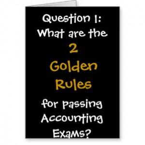 Accounting Exams Good Luck Card card