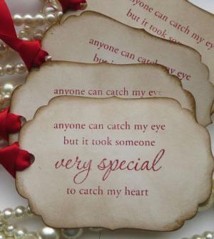 Valentine Quote Tags - Red Romantic - Vintage Style Gift Tags - Set of ...