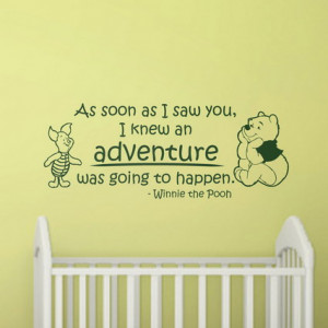 Winnie the Pooh with Life and Love Quotes and Sayings Wall Stickers ...